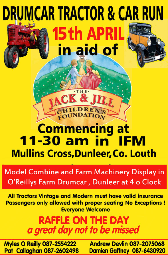 Drumcar Tractor Run In Aid Of Jack Amp Jill Jack And Jill