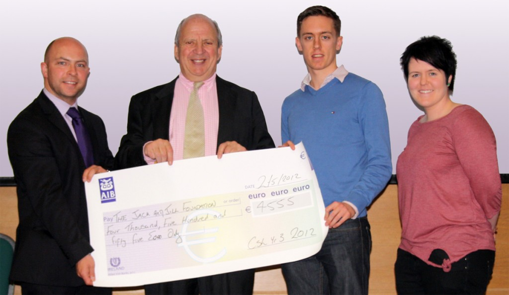 Dundalk Institute of Technology - Cheque presentation for Jack & Jill