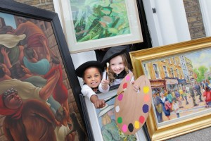 Standard Life donates art collection - its staff raise100,000 for Jack and Jill L to R Aurelia Fokasi & Niamh O'Brien