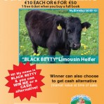 'Black Betty' Limousin Heifer Raffle Ticket