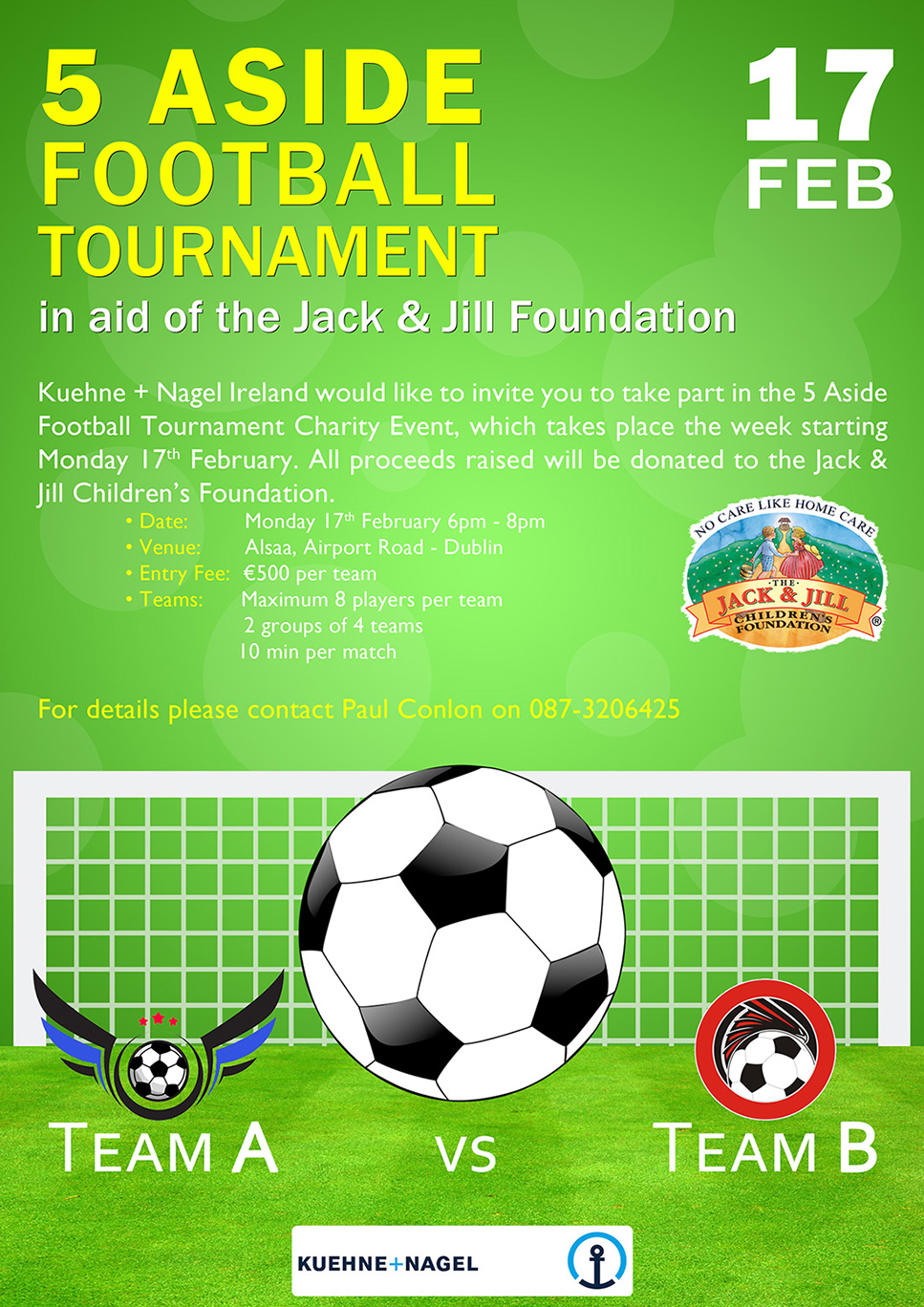 Football tournament in aid of the Jack & Jill Children's ...