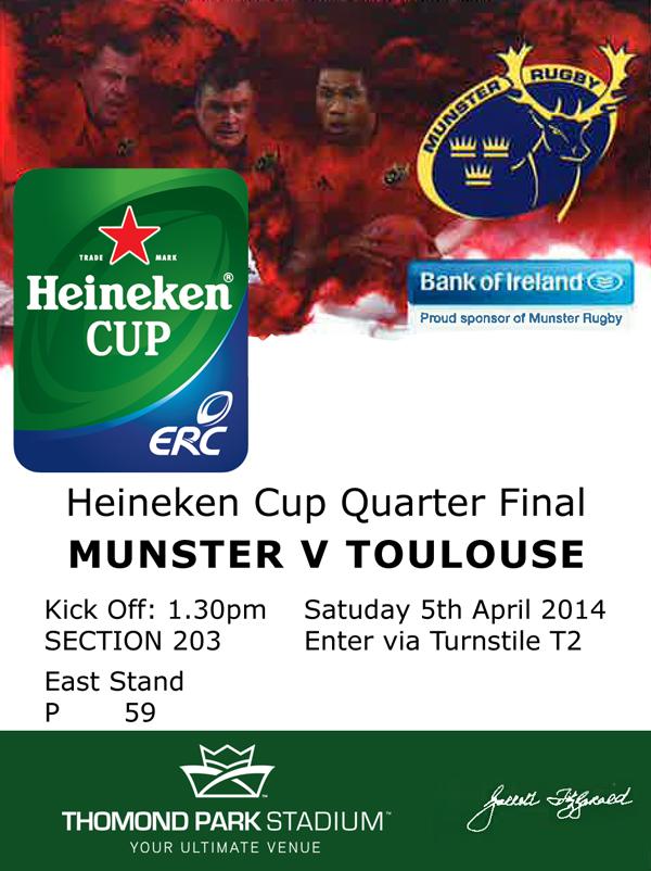 Heineken cup tickets