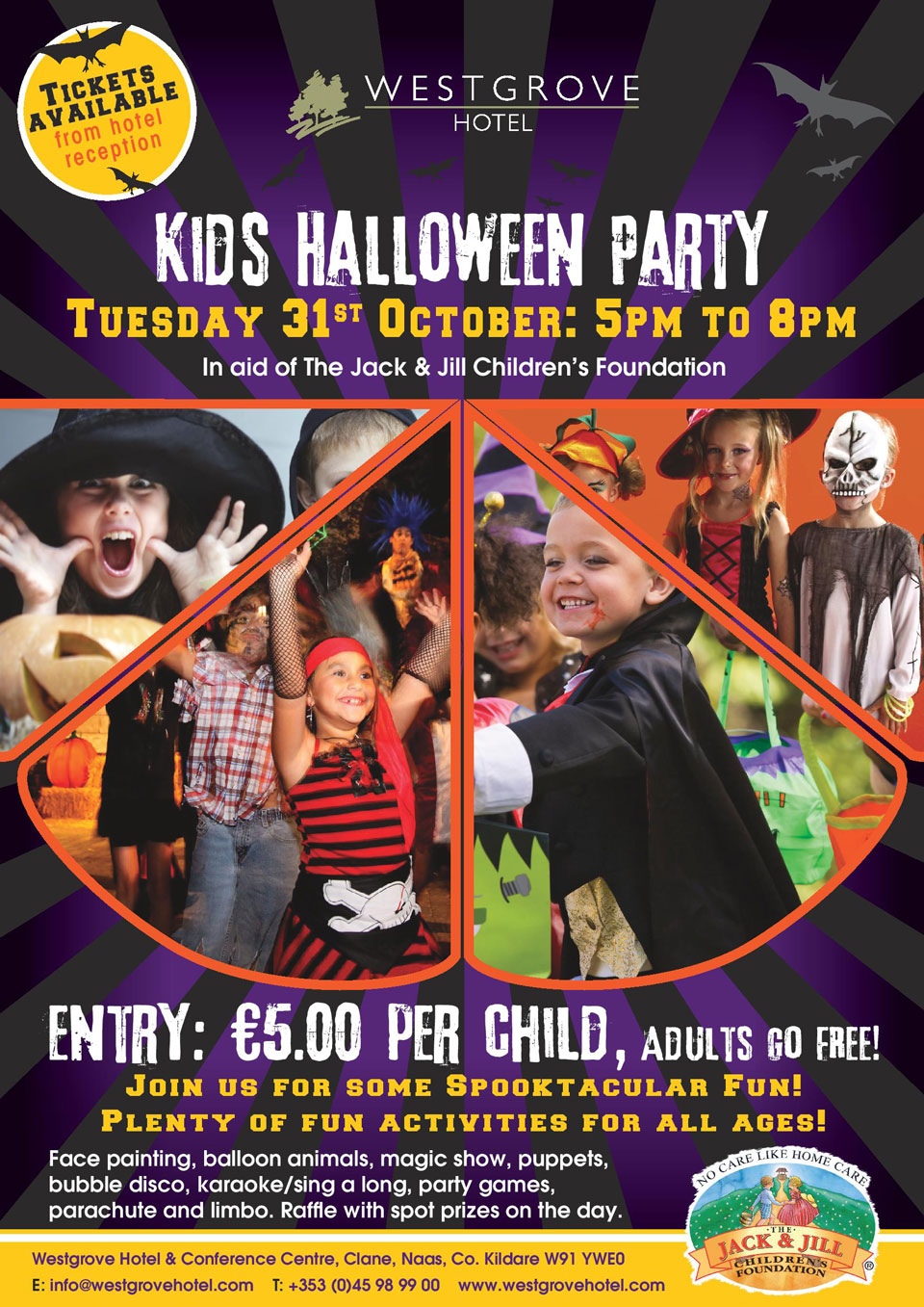 kids halloween party at westgrove hotel