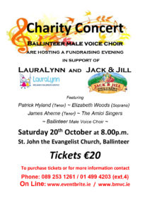 Ballinteer Male Voice Choir Concert Poster