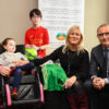 Martin O'Neill with Jack and Jill Families