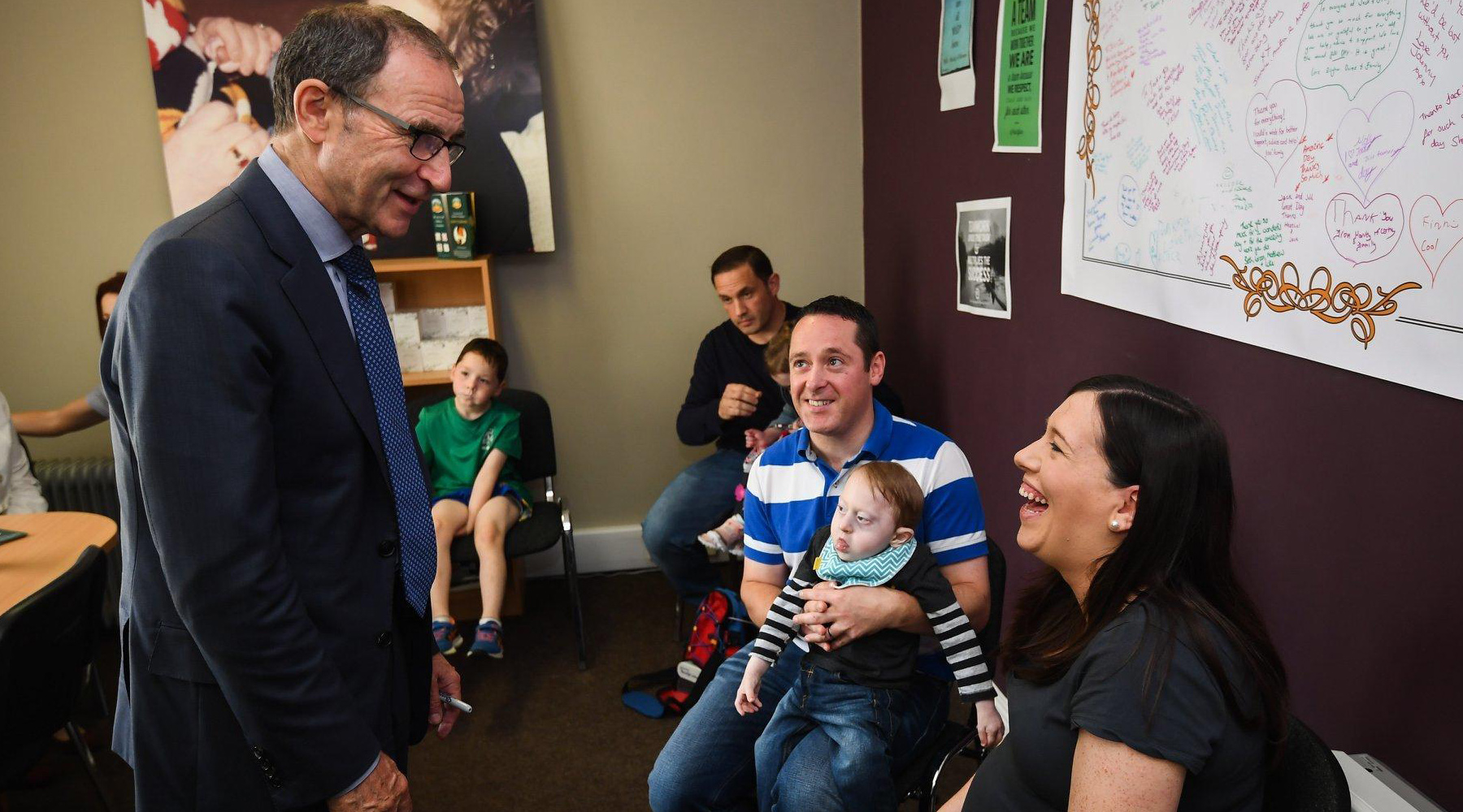 Martin O'Neill chatting with Jack & Jill Families
