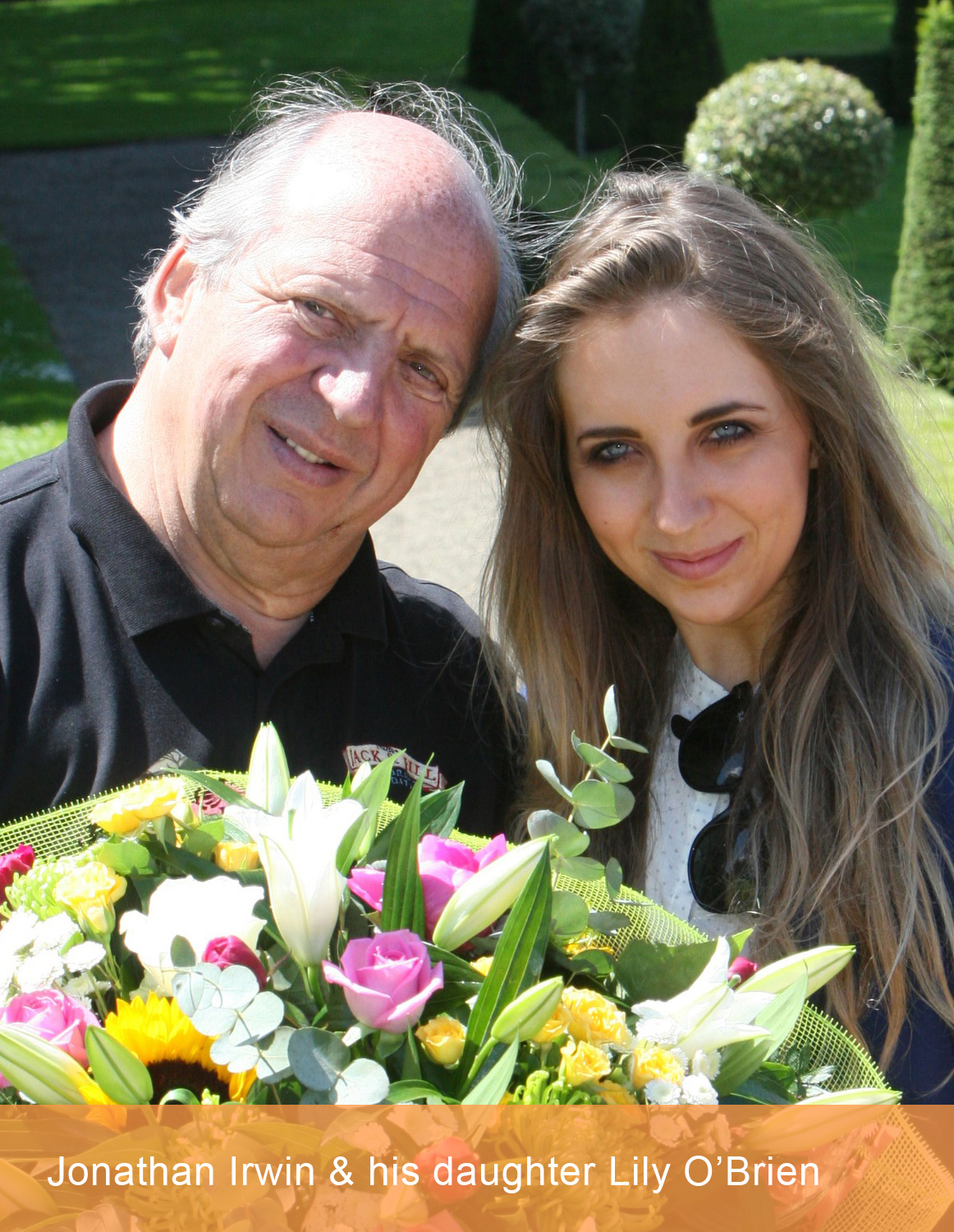 Jonathan Irwin and his daughter Lily O'Brien