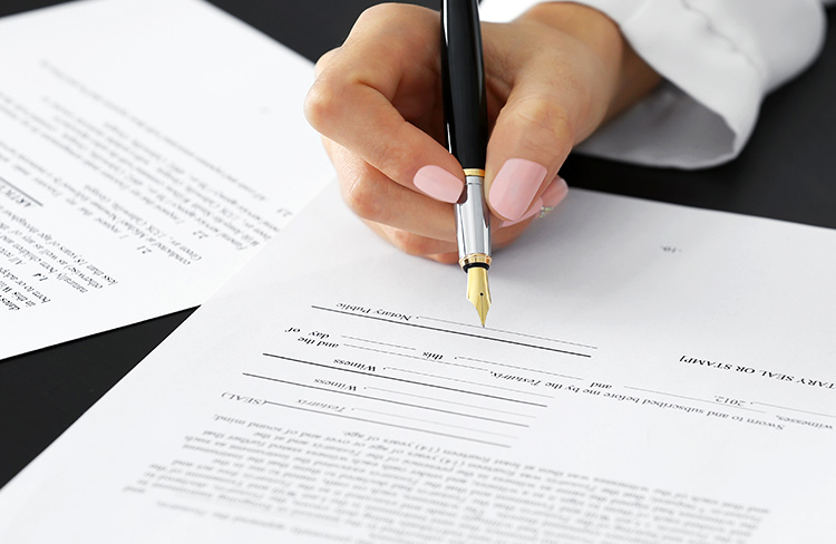 Professional legal support creating a will for 2 persons