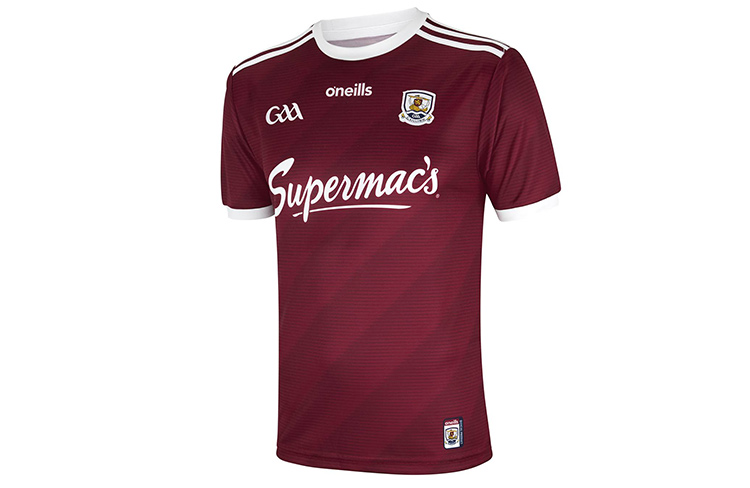 Signed and framed Galway hurling jersey