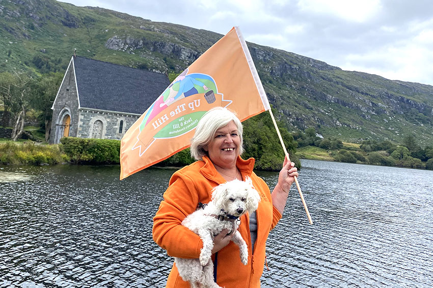 Jack & Jill Nurse Eilin O'Murchu supporting Up The Hill