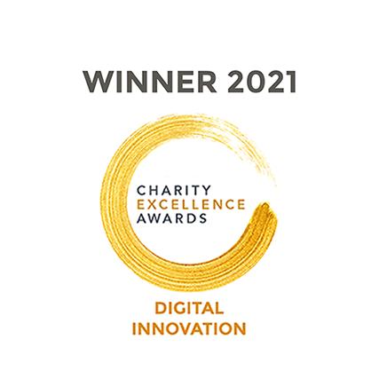 Charity Excellence Awards Digital Innovation Winner